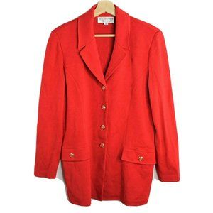 Vintage St. John Collection Marie Gray Red Blazer